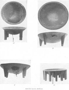 Samoan Material Culture. Round Kava Bowls. — Plate IX  nzetc.victoria.ac.nz