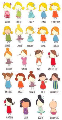 Little girls -ideas for applique