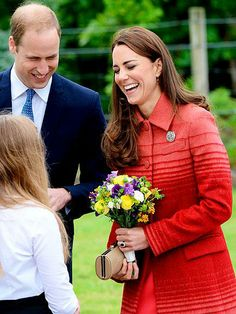 Prince William and Duchess Kate share a royal laugh with a little girl during a visit to Scotland's Strathearn Community Campus. http://www.people.com/people/gallery/0,,20820986,00.html#30164483