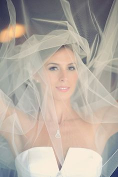 Every bride with a veil should have a shot like this ;) Photography by erinwallis.com