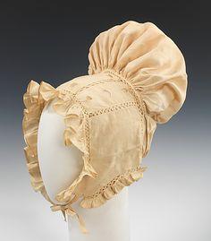 Bonnet (Sunbonnet)      ca. 1825