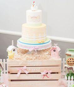 Picket Fence Birthday Cake