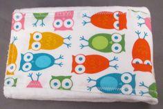 Modern Owl Burp Cloth