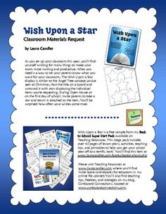 FREE Wish Upon a Star Materials Request - Easy method for requesting materials from parents during Open House