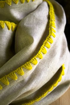 Laura's Loop: Edged LinenWrap - The Purl Bee - Knitting Crochet Sewing Embroidery Crafts Patterns and Ideas!