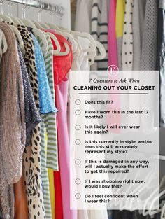 7 Questions to Ask When Cleaning Out Your Closet