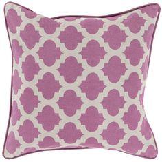 Birmingham Lattice Pillow in Orchid.