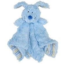 Koala Baby puppy dog security blanket is a soft plush polyester blanket with 100% cotton knit backing and plush puppy.