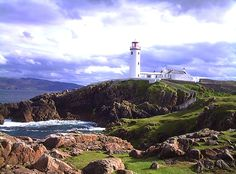 Irish countryside, lighthouse in Donegal