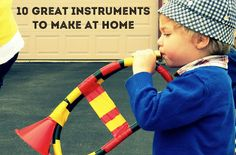 10 DIY Musical Instruments To Make at Home ~ Lots of fun ideas for you little music lover.