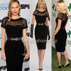 Women Vintage Belted Elegant See Through Party Cocktail Evening Casual Dress 307