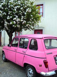 pink Renault 4