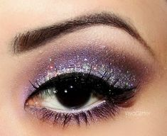 Eye #Makeup - #purple #shimmer