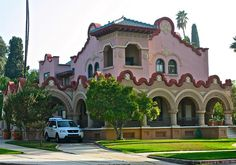 Redlands  Home--Olive Avenue: Built by William F. Holt, a developer and banker,  in the Mission Revival Style, 1902.