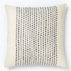 Embroidered Dot Pillow Cover from west elm #colorcrush
