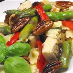 Asparagus, Chicken, and Pecan Pasta - Allrecipes.com