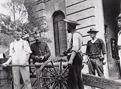 An artillery piece at the British Legation, possibly a home made gun known as 'Boxer Bill', used in the defense of the Legation, Peking, 1900. boxer rebellion, gun