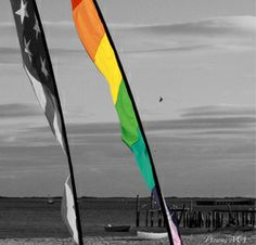 "#Rainbow decor 8"" x 8"" Canvas photograph of Ptown, Massachusetts. Shot in the #Provincetown harbor, showing the narrow strip of sand located at the outermost curve, also called the ""Land's End"" or ""Cape Tip."" A series of black and white photographs that proudly portray the #rainbowflag $19.00"