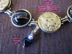 WEST POINT antique Army button bracelet