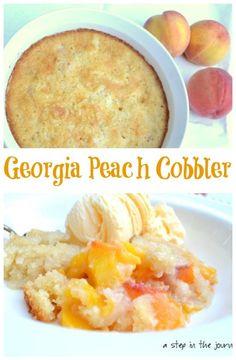 Delicious Peach Cobbler with Georgia Peaches!