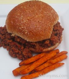 Try These Slow Cooker Pizza Burgers!! AMAZING flavor and only 251 calories! #healthy #recipes #skinnyms #BBQ