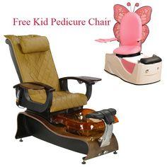 Free Kid Spa Violet Pedicure Chair Get free Kids