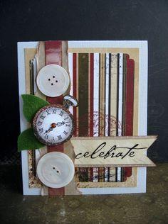 BoBunny Celebrate card - Scrapbook.com - Stunning card. #scrapbooking #cardmaking #bobunnypress
