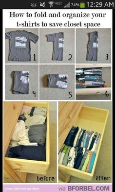 Organization tip to save room!!