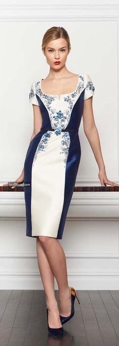 Carolina Herrera Pre-Fall 2013-14. Feminine elegance. Love the combination of florals and color blocking.