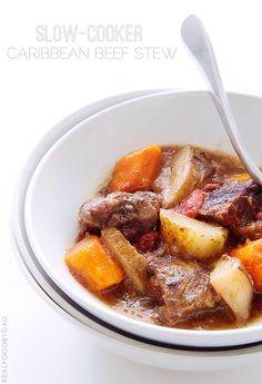 Slow Cooker Caribbean Beef Stew // @realfoodbydad #slowcooker #crockpot #beefstew #fall #comfortfood