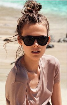 top knot and sunnies