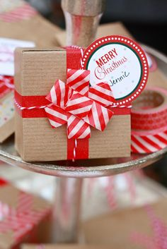 Printable gift tags and easy DIY washi tape packaging