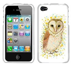 Barn Owl Custom Snapon Front and Back Hard Case by ACETAGdotCOM, $7.99