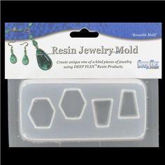 Deep Flex Hexagons & Triangles Resin Jewelry Mold | Shop Hobby Lobby