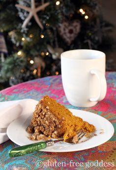 Pumpkin crumb cake. Gluten-free.