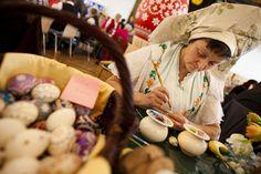Sorbian women craft ornate Easter eggs craft ornat, sorbian egg, women craft, easter eggs
