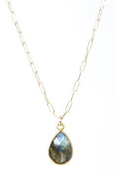 Leolani necklace - labradorite gold necklace maui, hawaii www.kealohajewelry.com