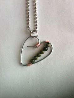 heart necklace valentines day heart jewelry by CardenCreations, $7.00