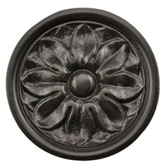 2 3/5 Inch Solid Brass Opulent Flower Knob (Oil Rubbed Bronze Finish)