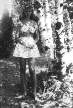 Sylvia Plath in the 1940s.
