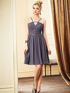 Alfred Angelo Bridesmaid Style 7272S in Charcoal