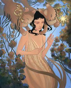 Fortuna - Amy Sol ---- art galleri, mon chat, fabulist art, ami sol, artist flair, sexi women