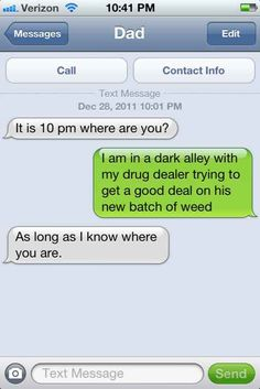 This concerned father... | 29 Parents Who Are Clearly Way Better At Texting Than Their Kids