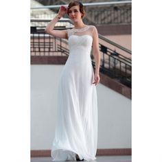 Discount Modern long Chiffon bridal wedding dress