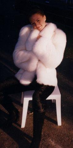 Snow White Fox Fur Jacket