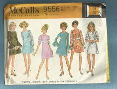 1968 McCalls 9556 ALine Dress with Square Neckline by MrsWooster, $4.00