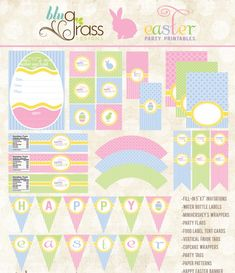 Free collection of Easter party printables #easter #printables #free