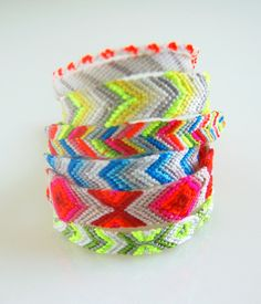 Chevron Friendship Bracelets with embroidery thread