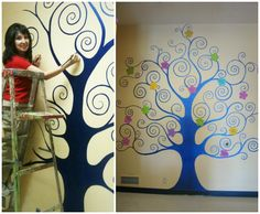 Tree Mural with Modern Masters Metallic Paints by Terry Leibenguth