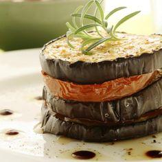 Eggplant caprese with tomato and basil